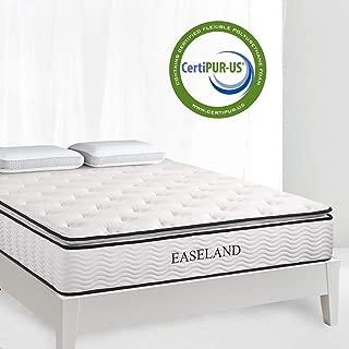 EASELAND Queen Mattress - Skin-Friendly Bamboo Pillow Top and Innerspring Hybrid 12