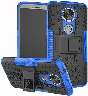 Moto E5 Plus Case, Moto E5 Supra Case, Yiakeng Dual Layer Shockproof Wallet Slim Protective with Kickstand Phone Case Cover for Motorola Moto E Plus (5th Generation) (Blue)