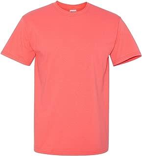 coral silk gildan shirt