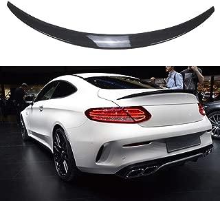 NINTE Trunk Spoiler for 2015-2019 Mercedes Benz W205 C Class C180 C200 C250 C300 C63 C43 2 Door Coupe, Painted ABS Carbon Fiber Coating Wing