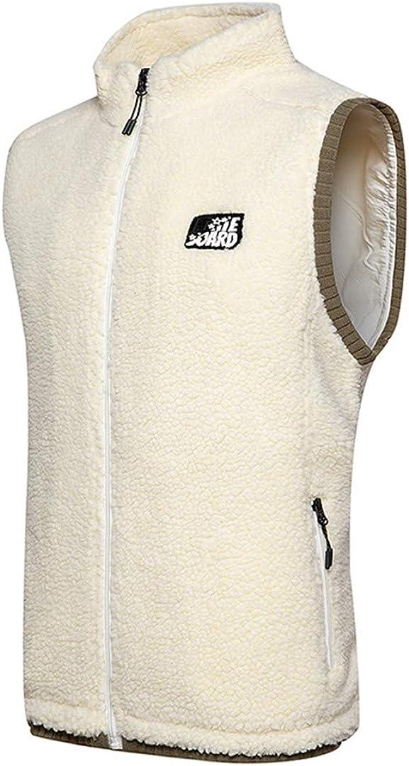 Men Fleece Vest Warm Zip Waistcoat Warm Sleeveless Jacket Outdoor Climbing Hiking Gilets Coat Vests
