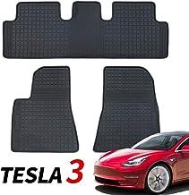 FITTOP Topfit Modelo S Estera de Goma para Maletero Protector de Maletero de Coche Compatible con Tesla Modelo S 2016-2019 All Weather Cargo Liner Incluido 2 Piezas Negro