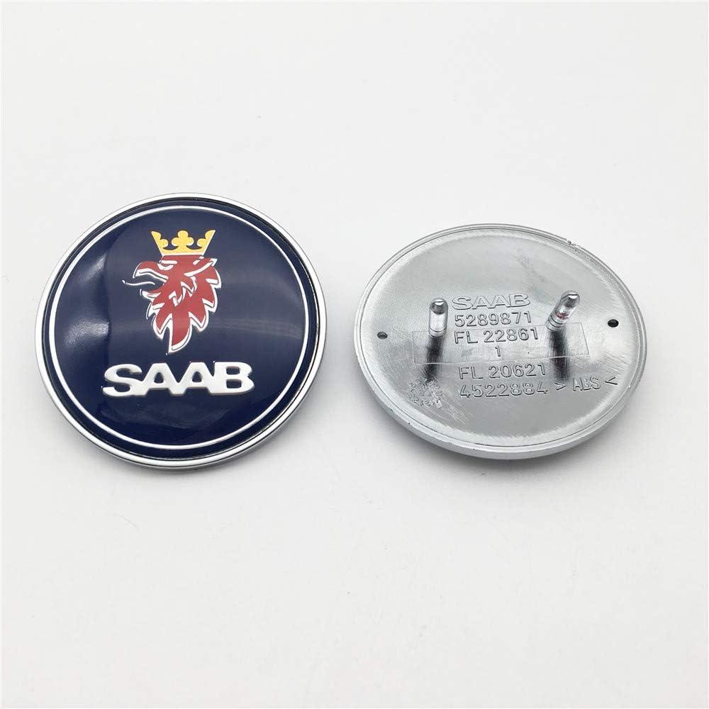 Ftc 1 Stück 50mm Geeignet Für Saab 93 9 3 900 9000 50mm Motorhaube Emblem Abzeichen 5289871 Blau Auto