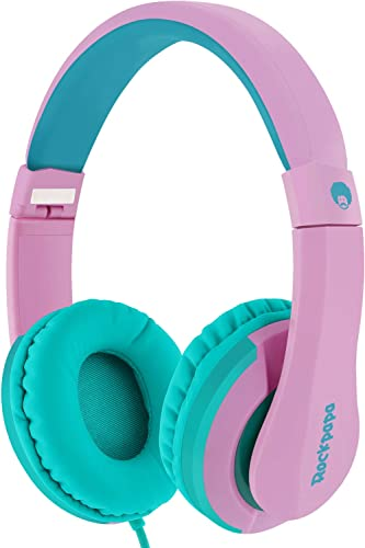 RockPapa I20 On Ear Headphones Foldable with Microphone, Earphones Adjustable for Kids Childrens Adults, iPhone iPad ...