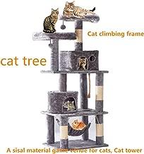 Jueapu Cat Tree, Multi-Layer Cat Tree, Elevated Hammock,Cat House, Cat Tower, Cat Game Leisure Place, Sisal Cat Nest, Cat Scratch Column, Cat Apartment, Cat Climbing Frame,Luxury Cat Tower,Cat Nest.