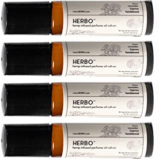 Sponsored Ad - Perfume Oil Roll-On | 3-Pack | Signature Fragrance | Use for Muscle Pain and Anxiety Relief | Organic Ingre...
