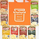 Instant Mashed Potatoes Bundle with Variety of 8 Idahoan Flavors and 1 Jammin' Good Stuff Tote (9 items)