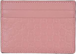 Gucci Microguccissima Signature Leather Card Case Wallet, Pink