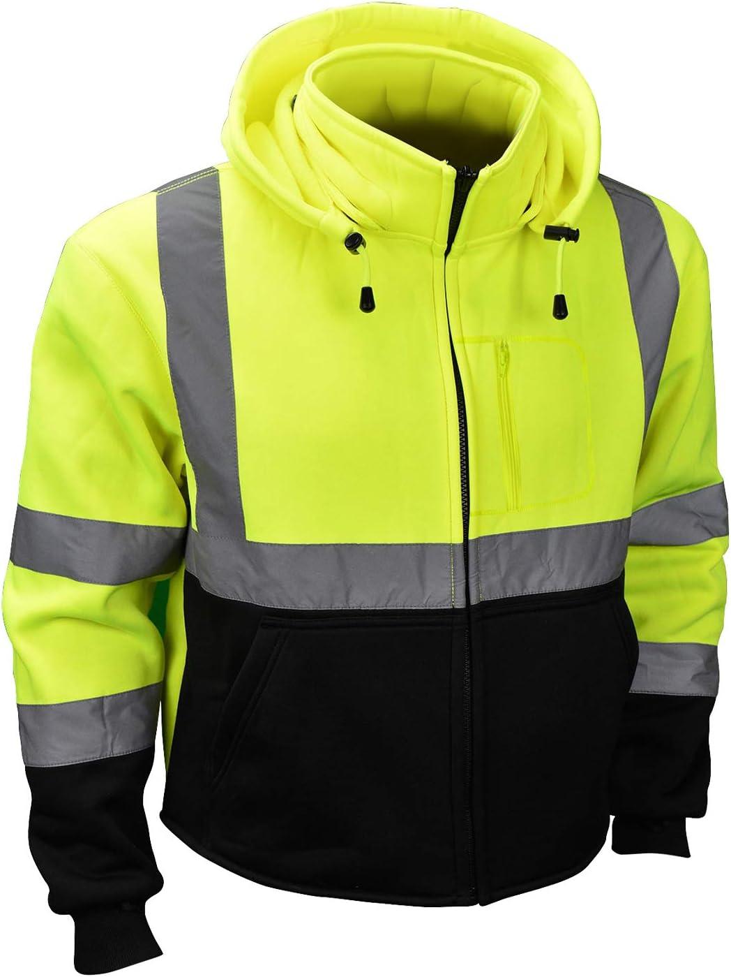 Radians SJ32-3ZGS Detroit Mall Class 3 shopping Color Hooded X-Lar Blocked Sweatshirt