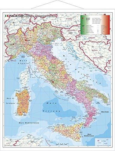 Italien Postleitzahlenkarte