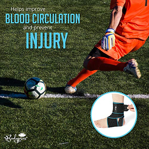 Adjustable Compression Ankle Braces for Sports