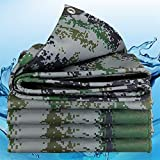 De Espesor 0,4 Mm Tienda De Campaña Lona Refugio Cubierta De Copas Cubierta Impermeable Camo Del Ejército Acampa Lona Abrigo Camuflaje Tienda De Lona Toldo Toldo Hoja De Cubierta De La Lluvia A Prueba