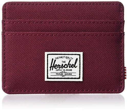 Herschel Supply Charlie RFID Billetera Tipo Tarjetas, Vino Windsor, Taille Unique para Hombre
