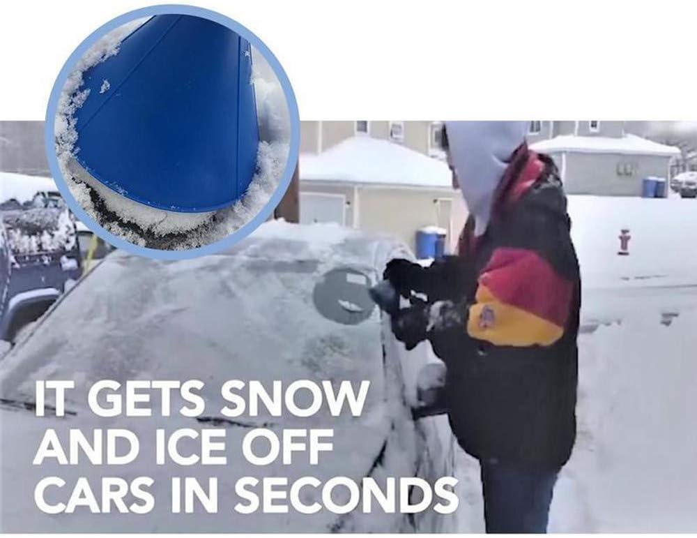 Fdgdgs 798374292540 Erthome Magischer Auto Kratzen Runde Kegel Windschutzscheibe Eiskratzer Reinigung Schneeschaufel Werkzeug Für Autos Blau Auto
