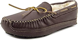 Minnetonka Sheepskin Lined Moose Slipper