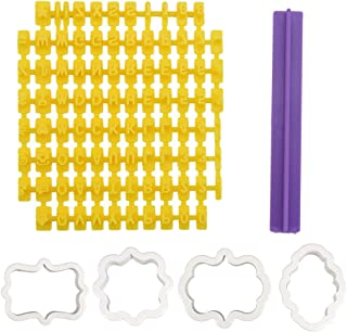 Lot de 94 tampons à biscuits et de 4 emporte-pièces en forme de lettres de l'alphabet et de chiffres