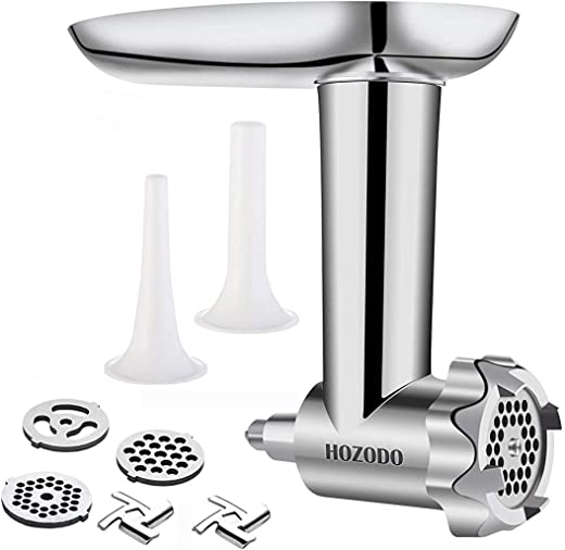 Food Meat Grinder Attachments Designed for KitchenAid Stand Mixers, Durable Metal Food...