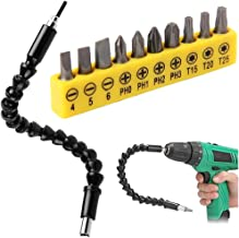 300mm Destornillador Eje Universal Flexible Bits Eje Electrónica Broca Extention Destornillador Soporte Conectar Enlace con 10PCS Bits Herramientas eléctricas