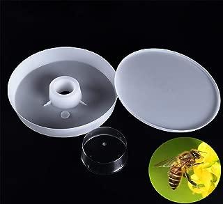 Boddenly Bee Feeder Plastic Rapid Bee Water Feeder, Round Hive Top, Feeder Beehive Plastic Bee Feeder Hive Beekeeper Tool, Beekeeping Supplies