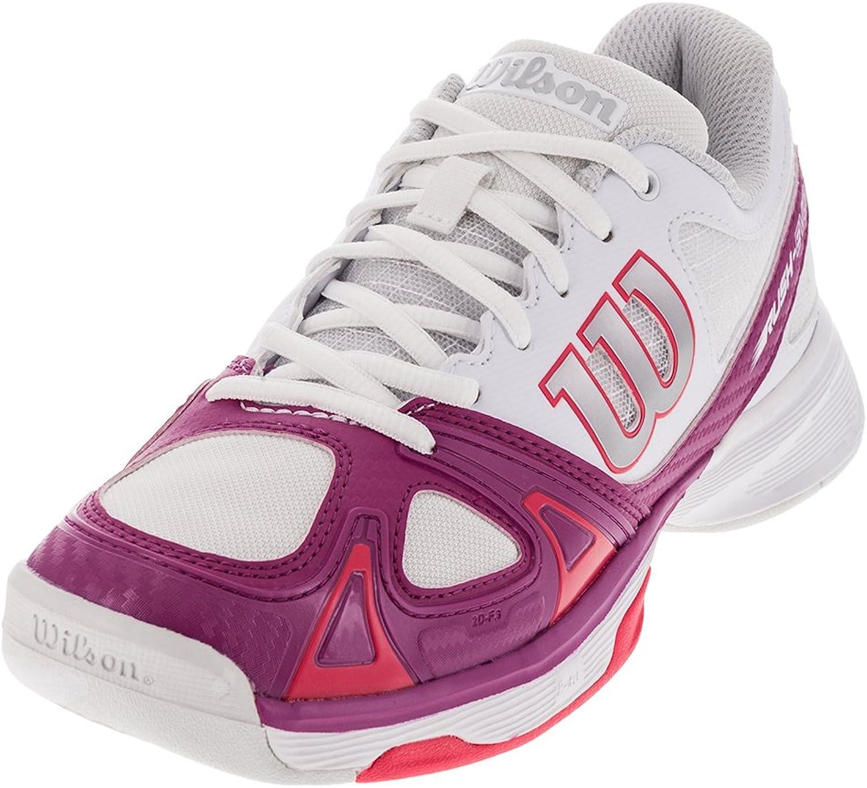 WILSON Women's Rush Evo Tennis shoes White Pink - Size 10W