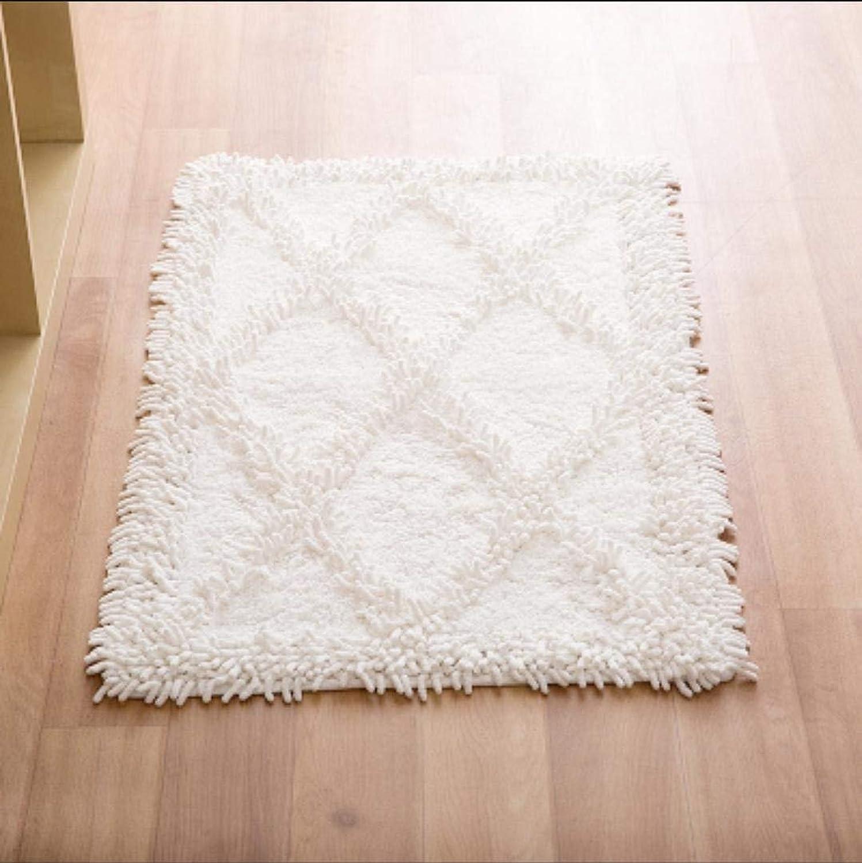 Cotton Chenille mat Mattress Hotel Living Room Bathroom Bathroom mat Cotton Thickening Absorbent Skid pad, 5, 50  80cm