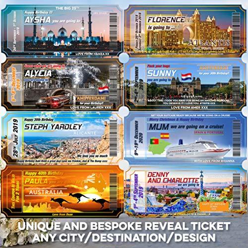 Wedding Cards Personalisierte Einladung für Flug, Geburtstag, Jahrestag, Einladung, Bordkarte, Ausflug, Reiseziel