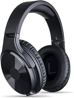 Movo MH-100 - Auriculares de estudio Hi-Fi con micrófono - Auriculares con cable para juegos y música con entrada de 3,5 mm y 6,35 mm - Cómodos auriculares con micrófono - Auriculares Podcast perfectos para PC