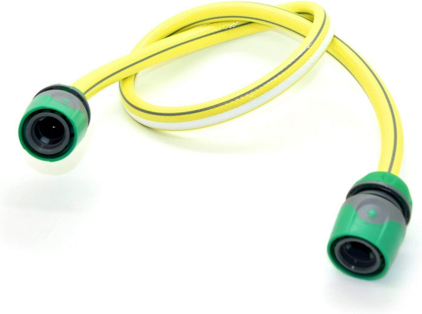 SolaDirect 1 m of 1//2 in 4-Layers Heavy Duty Yellow Garden Hose Reinforced Pipe Outdoor Hosepipe 2 Female Connectors