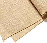 Color: Brown | Material - Jute | Size -39 Inch x10 Mtr These are lovely for decorating your any craft, party dress, dolls, hair accessories, hat, bag etc. A roll of burlap jute table runner vintage rustic hessian table runner table covers for rustic ...