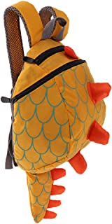 Dolity Kids Safety Harness Rein Toddler Back Pack Walker Dinosaur Strap Walker Baby Bag - Yellow, 23x28x12cm