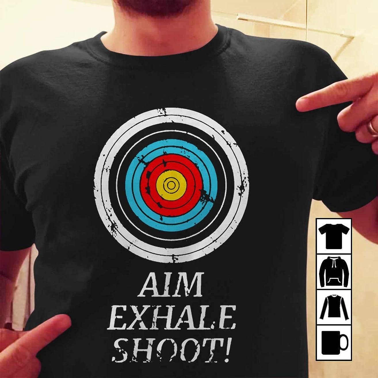 Bowman Archer Archery Target aim exhale shoot T Shirt Long Sleeve Sweatshirt Hoodie Youth