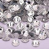 SS6 8 10 12 16 20 30 rosa brillante AB Hotfix cristal Rhinestone hierro en piedras de cristal redondas Hot Fix Strass perlas para tela, transparente, SS12 1440 piezas