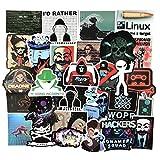 DUOYOU Set Hacker Network Programmer Graffiti Pegatinas Para Draw-Bar Marco Juguetes Niños Diy Coches Mochila Patín Ordenadores 50pcs/