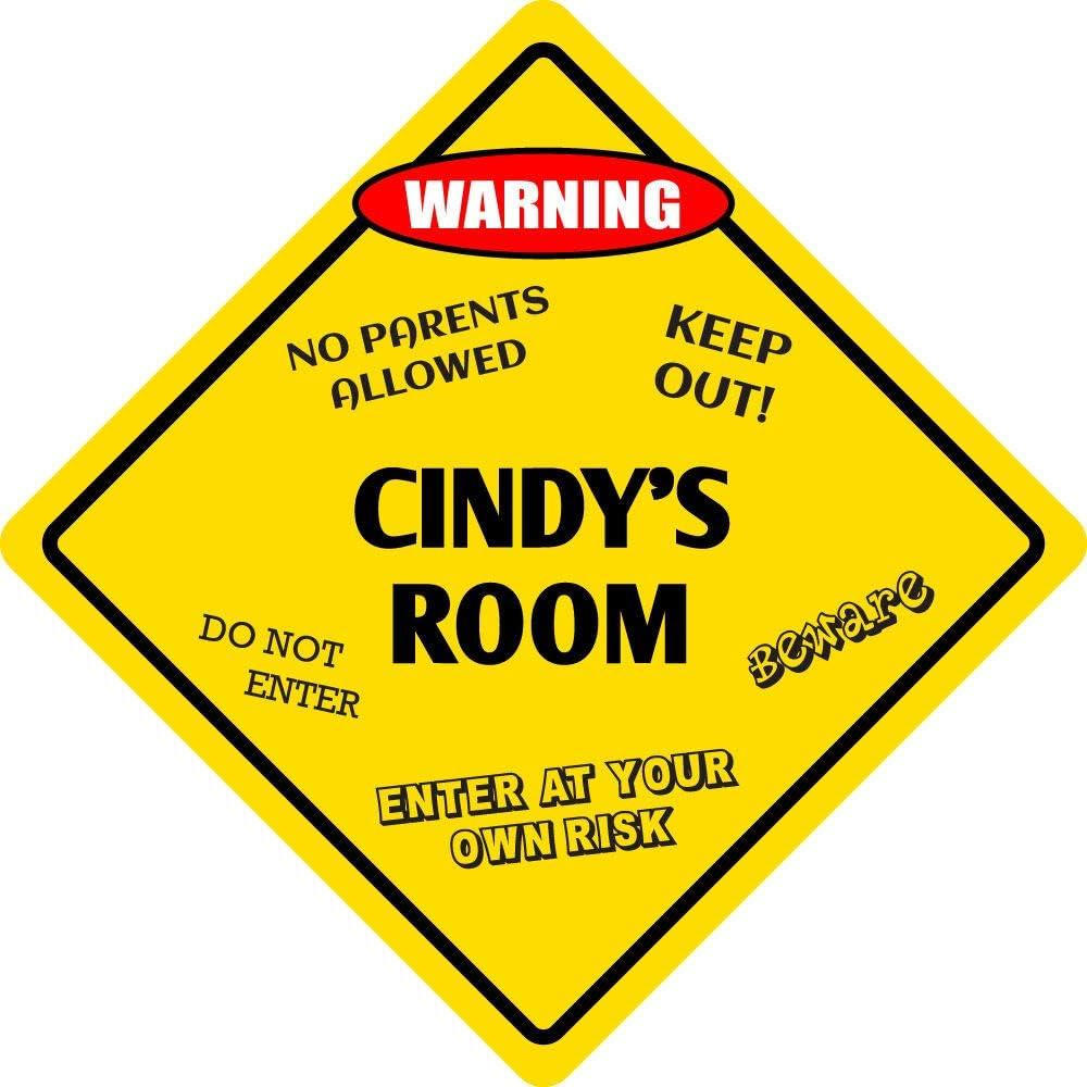 Aluminum Cindys Room Kids Door Novelty Sign - Metal 12