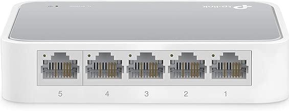TP-LINK TL-SF1005D Conmutador de sobremesa, 5 puertos, 10/100 Mbps, Fast Ethernet, Blanco