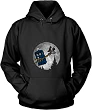CNTSTORE The Tardis Flying Across The Moon T Shirt, Doctor Who T Shirt - Hoodie