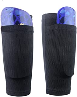 Soccer Shin Guard Sock Leg Performance Support Football Compression Calf Sleeves with Pocket Can Holding Shin Pads Comfort Breathable for Beginner or Elite Athlete HCT22