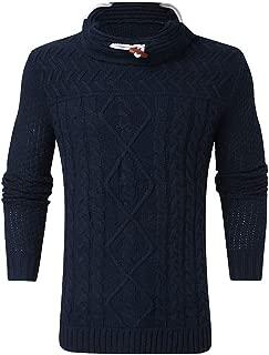 Stoota Men's Latest Knitted Pullover, Warm Soft Jumper Drape Choker Sweater Midweight Sweatershirt Blouse Top