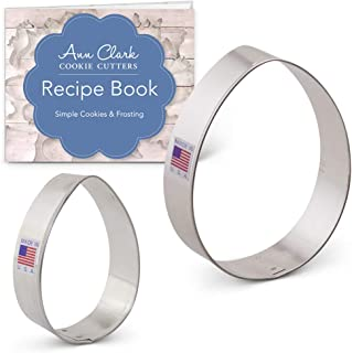 Ann Clark Cookie Cutters 2-Piece Easter Egg Cookie Cutter Set with Recipe Booklet, 3