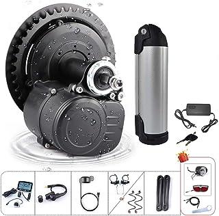 36V/48V 250W 350W 500W Torque Sensored Electric Bicycle Motor Kit Mid Drive DIY Ebike Conversion Kit with Display and Batt...