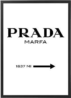 Quadro Marfa con Cornice - Verticale - varie dimensioni vari colori Made in Italy - riferimento all'opera d'arte di critic...