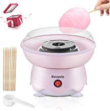 Cotton Candy Machine for Kids Bavpelp 400W Electric Cotton Candy Maker with 10 Candy Cones and 1 Reusable Sugar Scoop Coun...
