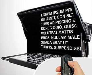 TeleprompterPAD iLight Pro 13 Gran Pantalla - 100x100 Aluminio – Robusto. Compatible con iPad Pro/Android/Windows. Multi Cámara. Cristal HD Beamsplitter. Alta calidad. Made in UE