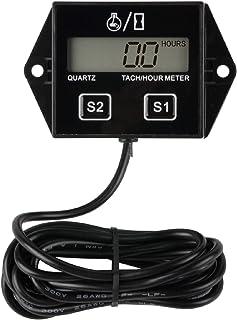 Jayron JR-HM011N LCD Tacómetro inductivo de gasolina Medidor de tacómetro/hora reiniciable para paramotores,ultraligeros,motores marinos-Bombas internas y externas,generadores