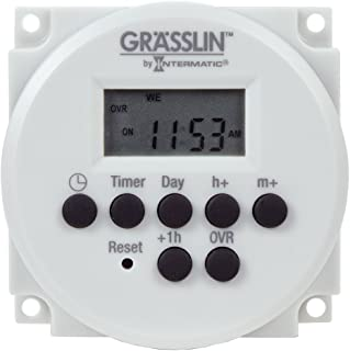 Grasslin by Intermatic FM1D14-AV-U Digital Timer, One-Circuit Panel Mount, 120-277VAC, 50/60Hz