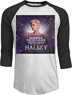 AlyseEvans Halsey Men's 3/4 Sleeve Casual Raglan Jersey Baseball Tee Shirt
