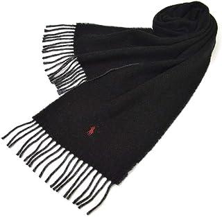 Ralph Lauren(ラルフローレン)マフラー メンズ/レディース リバーシブルウールマフラー(サイズ約168cm×約25cm)erl19w106 PC0455 Classic ReversibleScarf Polo Black/Grey