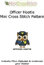 Hootie Officer Mini Cross Stitch Pattern