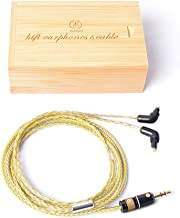 OKCSC Earphone Upgrade Cable,3.5mm Plug Earbud Detachable Replace Cord,Tinned Copper Wire with A Wooden Box,Handmade Weave Cord for Sony EX600 EX800 EX1000 EXK MDR7550(3.5mm Jack)