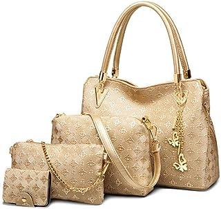 GUANJIU Mode Damen Handtaschen Alle Match Umhängetasche Umhängetasche Pu Ledermuster Textur Top Griff Taschen Umhängetasch...